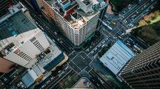城市的俯视图