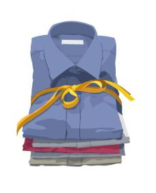 fashion_04一摞衬衫矢量图