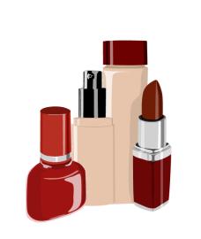 fashion_12红色的化妆品矢量图