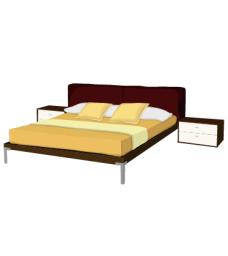 furniture_01双人床矢量图
