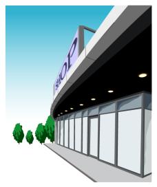 shop_02商店侧面矢量图