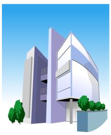 shop_04一栋楼矢量图