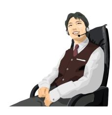 customercenter_03男话务员矢量图