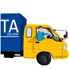 delivery_01货车里的司机矢量图