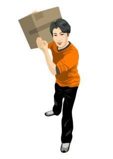 delivery_03扛箱子的男孩矢量图