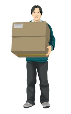 delivery_05搬纸箱的男人矢量图