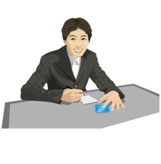 settlement_04记事的先生矢量图