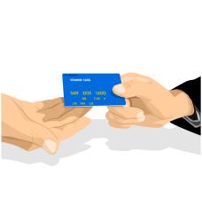 交信用卡的手矢量图