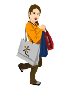 购物女人矢量图
