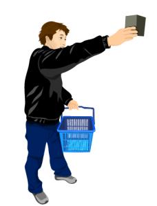 拎购物筐的男人矢量图test