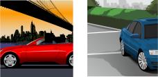停车位和,都市车桥矢量图两张