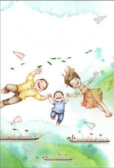 六一儿童节海报背景