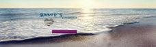 大海沙滩背景图