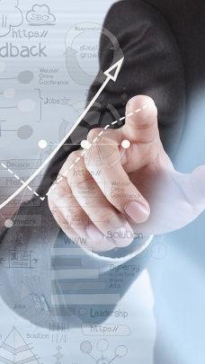 商业图标图表科技背景