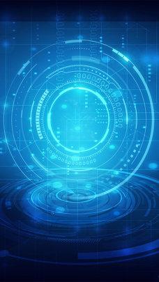 酷炫商务科技互联网H5背景