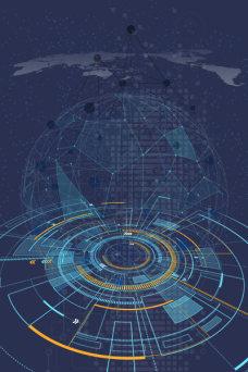 科技数据蓝色大气简约背景
