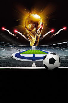 激战世界杯足球背景模板